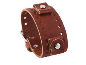 Nemesis #BN-LB Brown Wide Leather Cuff Wrist Watch Band