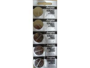 Energizer Battery CR2032 Lithium 3V (5 Batteries Per Pack)