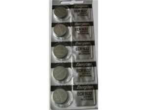 Energizer Battery 1632 (CR1632) Lithium 3V (Pack of 5 Batteries)