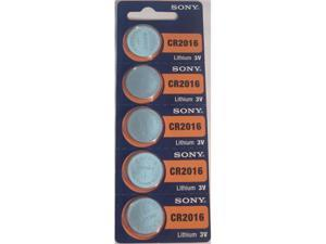 Sony Battery CR2016 Lithium 3V (5 Batteries Per Pack)