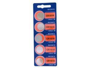 Sony Battery CR1616 Lithium 3V (5 Batteries Per Pack)