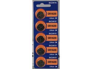 Sony Batteries CR1620 Lithium 3V (5 Batteries Per Pack)