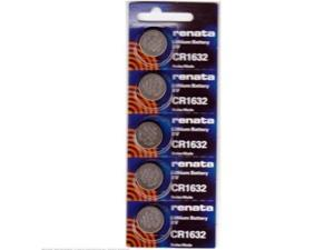 Renata CR1632 Lithium Battery 3V (5 Batteries Per Pack)