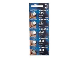 Renata Battery 393 SR754W Silver 1.55v (5 Batteries Per Pack)