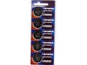 Renata CR2032 Lithium Battery 3V (5 Batteries Per Pack)