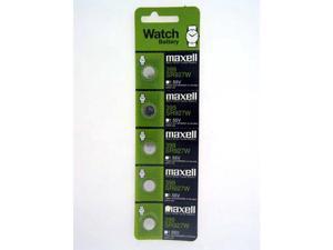 Maxell Battery 399 SR927W Silver Oxide 1.55V (5 Batteries Per Pack)