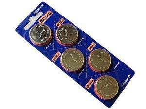 Sony CR2450 Lithium Battery 3V  (5 Batteries Per Pack)