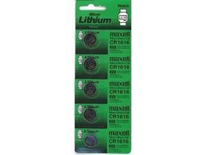 Maxell CR1616 Lithium Battery 3V  (5 Batteries Per Pack)