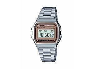 Casio #A158WEA-9 Men's Metal Band Classic Digital Bracelet Watch