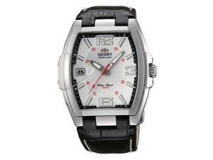 Orient #CERAL007W Men's Leather Strap Silver Tone Silver Dial Automatic Watch