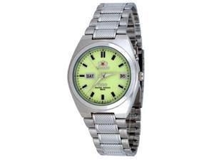 Orient #FEM5L00QR Men's Tri Star Luminous Dial Self Winding Automatic Watch