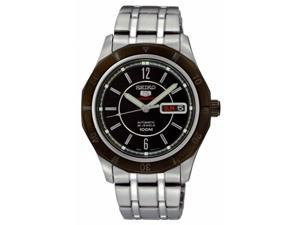 Seiko 5 Sports #SRP297 Men's Stainless Steel 100M 24 Jewels Black Dial Automatic Watch