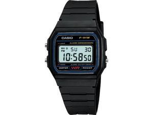 Casio #F91W-1 Men's Classic Chronograph Alarm LCD Digital Watch