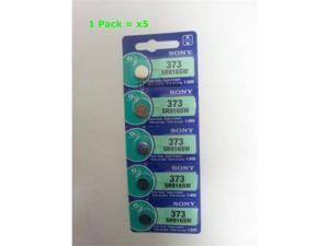 Sony Battery 373 SR916SW Silver 1.55V (5 Batteries Per Pack)