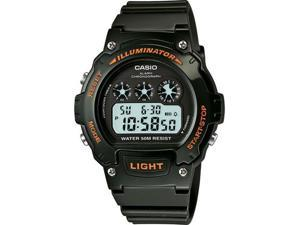 Casio #W214HC-3AV Men's Green Chronograph Alarm LCD Digital Sports Watch