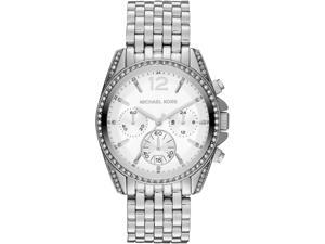 Michael Kors Pressley Chronograph White Dial Stainless Steel Ladies Watch MK5834