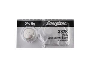 Energizer Battery 387S Silver Oxide 1.55V (1 Battery Per Pack)