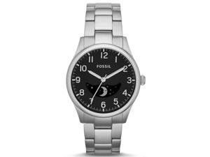 Fossil #FS4848 Men's The Agent Stainless Steel Moon Phase Analog 3-Hand Watch