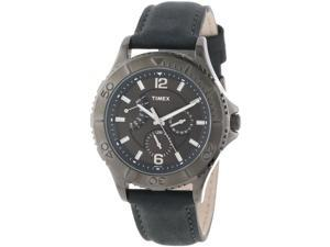 Timex T2P178 Mens Retrograde Leather Watch
