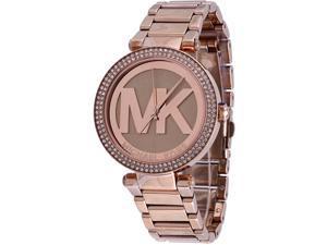 """Michael Kors #MK5865 Women's Parker Rose Golden Glitz """"MK"""" Watch"""
