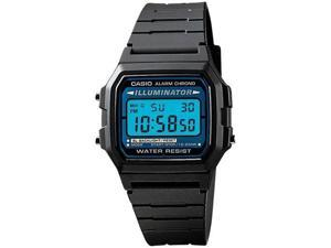 Casio F105W-1A Men's Black Resin Band Alarm Chrono Illuminator Digital Watch