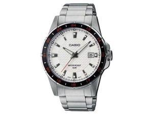Casio MTP1290D-7AV Men's Enticer Standard Analog Metal Band Silver Dial Watch
