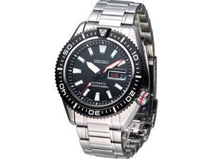 Seiko Superior SRP495 Men's Air Diver Stainless Steel Black Dial Automatic Watch