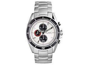 Michael Kors Chronograph White Dial Stainless Steel Mens Watch MK8339