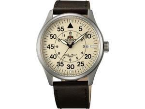 Orient #FER2A005Y Men's Flight Collection Leather Band Pilot Automatic Watch