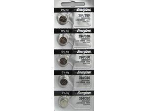 Energizer Battery 394/380 (SR936SW,SR936W)Silver Oxide 1.55V (5 Batteries per Pack)