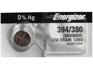 Energizer Battery 394/380 (SR936SW,SR936W)Silver Oxide 1.55V (1 Battery per Pack)