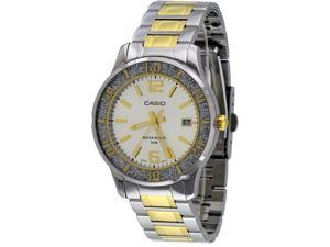 Casio LTP1359SG-7AV Women's Sprinkled Bezel 2 Tone Gold Metal Silver Dial Watch