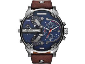 Diesel DZ7314 Men's Mr Daddy 2.0 Leather Band Quad 4 Time Zone Chronograph Watch