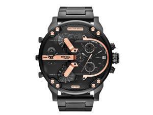 Diesel DZ7312 Men's Mr Daddy 2.0 Black IP Quad 4 Time Zone Chronograph Watch