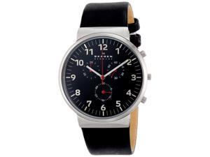 Skagen Men's SKW6100 Ancher Quartz/Chronograph Stainless Steel Black Dial Watch