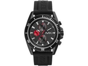 Michael Kors MK8377 Men's Jetmaster Black IP Silicone Band Chronograph Watch