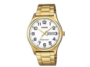 Casio MTP-V003G-7B Men's Standard Analog Gold Tone Easy Reader Day Date Watch