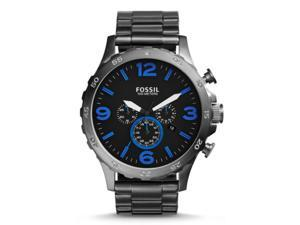 Fossil JR1478 Men's Nate Smoke Stainless Steel Black Dial Chromograph Watch