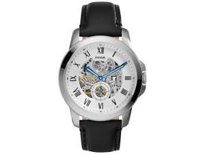 Fossil Men's ME3053 Grant Automatic Self Wind Leather Watch - Black