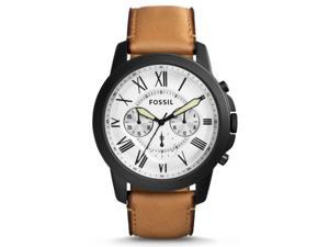 Fossil Men's FS5087 Black Leather Quartz Watch