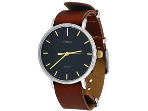 Timex TW2P97900 Weekender Indiglo Fairfield Full-Size Brown Leather Band Watch