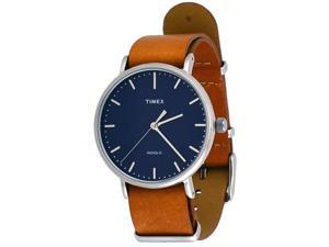 Timex TW2P97800 Weekender Indiglo Fairfield Full-Size Brown Leather Band Watch