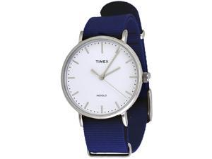 Timex TW2P97700 Weekender Indiglo Fairfield Full-Size Blue Fabric Band Watch