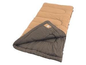 Coleman Dunnock 81x39 Inch Rectangle Sleeping Bag Orng/Brwn
