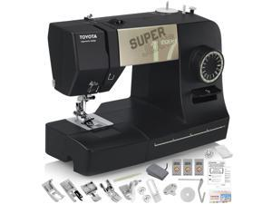 TOYOTA Super Jeans J17XL Sewing Machine (Glides Over 12 Layers of Denim) w/ Gliding Foot, Blind Hem Foot, Zipper Foot, Overcast Foot, Needles and More!