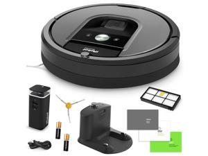 iRobot Roomba 960 Vacuum Cleaning Robot + Dual Mode Virtual Wall Barriers (With Batteries) + Extra High Efficiency Filter + Extra Sidebrush + More