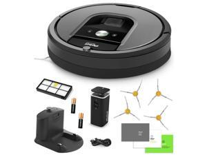 iRobot Roomba 960 Vacuum Cleaning Robot + Dual Mode Virtual Wall Barriers (With Batteries) + Extra HEPA Filter + 4 Extra Sidebrushes + More