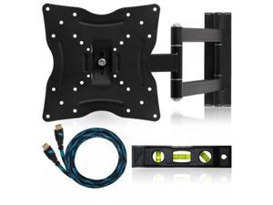 "Cheetah Mounts ALAMLB LCD TV Wall Mount Bracket with Full Motion Swing Out Tilt and Swivel Articulating Arm for 23-37"" Flat Screen Displays with VESA 75 to 200 Mount Patterns"