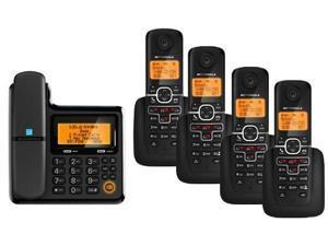 Motorola DECT 6.0 Digital Cordless Phones w/ Corded Phone Base, Answering System & 4 Cordless Phones