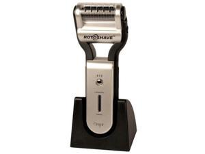 Emjoi RotoShave Rechargeable Electric Shaver w/ Extra Roller Pack, 9 Rotating Blades & Spiral Windings